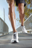 Sport man running. background in motion Royalty Free Stock Photo