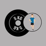 Sport man running weight graphic Royalty Free Stock Photography