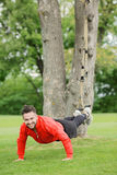 Sport man training in park Royalty Free Stock Photos