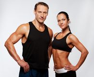 Sport man and woman. Picture of a beautiful athletic couple Royalty Free Stock Image