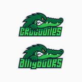 Sport mascot set. Alligator and crocodile mascot for a sport team. Vector illustration Stock Illustration
