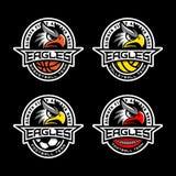 Sport mascot set stock illustration