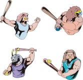 Sport mascots - baseball Royalty Free Stock Images