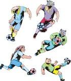Sport mascots - soccer Stock Photo