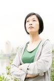 Sport mature Asian woman Stock Images