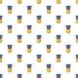 Sport medal pattern seamless Stock Photo