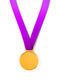 Sport medal on white background Stock Images