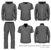 Sport men wear collection. Royalty Free Stock Images