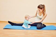 Sport met baby Royalty-vrije Stock Afbeelding