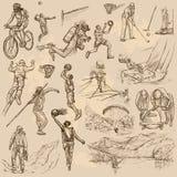 Sport mieszanka - ręka rysująca wektorowa kolekcja Fotografia Stock