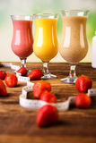 Sport Milk shakes, healthy and fresh Stock Photo