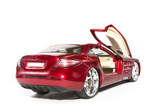 Sport model red car. Collectible. Royalty Free Stock Photo
