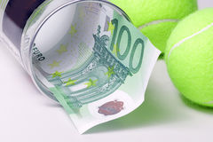 Sport and money Royalty Free Stock Photos