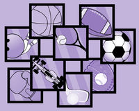 Sport mosaic Royalty Free Stock Photography