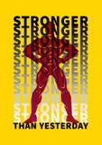 Sport motivation poster stock illustration