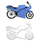 Sport moto bike vector drawing illustration royalty free stock image
