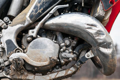 Sport motocross bike engine Royalty Free Stock Image