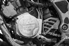 Sport motocross bike engine Royalty Free Stock Photos