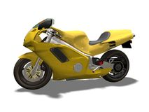 Sport motorcycle. Motor bike 3D isolated  white background Royalty Free Stock Images