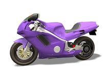 Sport motorcycle. Motor bike 3D isolated  white background Stock Images
