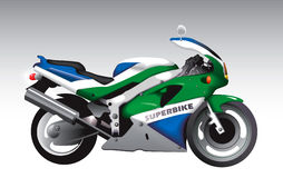 Sport motorcycle. Abstract sport motorbike (vector illustration Royalty Free Stock Photography