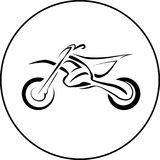 Sport motorcycle bike. Sport motorcycle motocross dirt bike motard line vector illustration Royalty Free Stock Photography