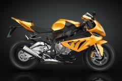 Sport Motorcycle. On black background Stock Photo