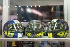 Sport motorcycle helmet on Belgrade motorbike show Royalty Free Stock Image