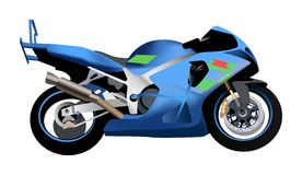 Sport motorcycle vector Stock Image