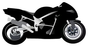 Sport motorcycle vector Stock Photography
