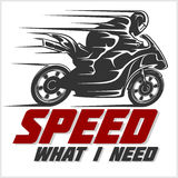 Sport Motorcycle. Vector graphic for t shirt Stock Photo