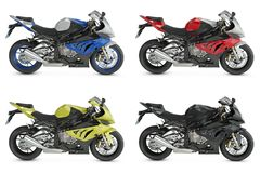 Sport Motorcycles. On white background Royalty Free Stock Photo