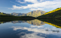 Sport mountain, lake Piedrafita, Huesca Pyrenees Royalty Free Stock Image