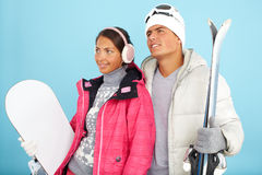 sport na śnieg na zimę fotografia stock