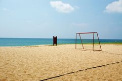 sport na plaży Obraz Royalty Free