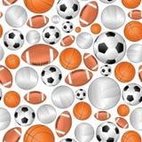Sport naadloos patroon Royalty-vrije Stock Fotografie