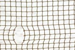 Sport netto met gat stock afbeeldingen