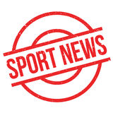Sport News rubber stamp Royalty Free Stock Images