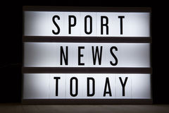Sport news Today Royalty Free Stock Photo