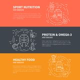 Sport Nutrition Design stock illustration