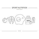 Sport Nutrition Products vector illustration