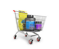 Sport nutrition in the shopping cart. Royalty Free Stock Image