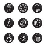 Sport object icon set Royalty Free Stock Photos