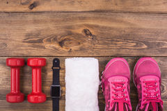 Sport objects equipment  healthy active lifestyle Royalty Free Stock Image