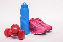 Sport objects equipment  healthy active lifestyle Royalty Free Stock Photos