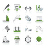 Sport objects icons. Vector icon set Royalty Free Stock Image