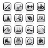 Sport objects icons Stock Images