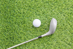 Sport objects related to golf equipment Stock Images