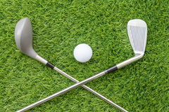Sport objects related to golf equipment Royalty Free Stock Photos