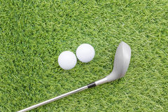 Sport objects related to golf equipment Stock Image